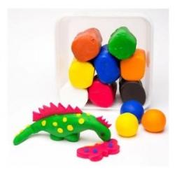 Minkšta modeliavimo masė 2,4 kg, 8 įvairių spalvų