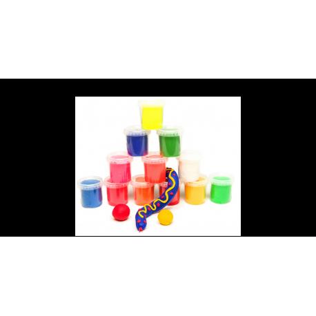 Minkšta modeliavimo masė 1,8 kg, 12 įvairių spalvų