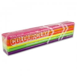 """Plastilinas """"Scola"""" 6 neoninių spalvų, 500 g."""