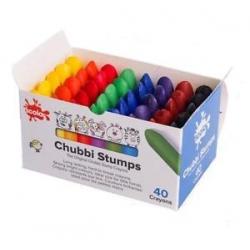 Vaškinės kreidelės Scola Chubbi Stumps 40 vnt. 8 spalvų.