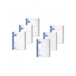 Plastikiniai skiriamieji lapai KPF, A4, skaičiai 1-20