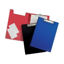 Lentelė rašymui, A4 formato, su užvartu ir spaustuku, raudonos spalvos