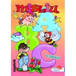"""Spalvinimo knygelė A5  """"Mislių ABC su lipdukais"""""""