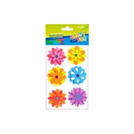 """Dekoracija-lipdukai iš putgumės su kristalais """"Gėlės"""", 6 vnt. CRAFT-FUN"""