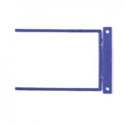 Archyvinės įsegėlės FORPUS, plastikinės su metalu, (pak. -100 vnt.), mėlynos