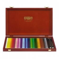 """Spalvoti pieštukai dailei """"POLYCOLOR"""" medinėje dėžutėje Koh-I-Noor, 36 spalvų"""