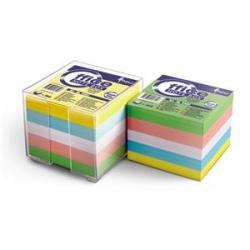 Užrašų lapeliai spalvoti dėžutėje 90x90mm 800vnt