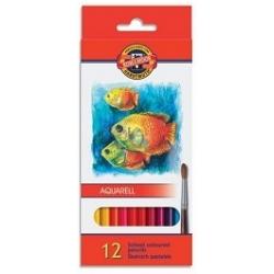 Akvareliniai pieštukai Koh-I-Noor, 12 spalvų