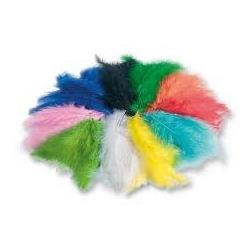 Dekoratyvinių plunksnų rinkinys 10 gr., įvairių spalvų FOLIA