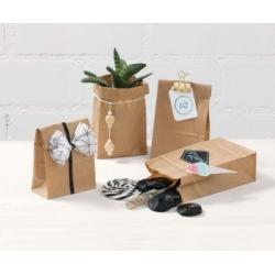 Popieriniai KRAFT maišeliai 17,5 x 10 x 5,5 cm., 15 vnt. FOLIA