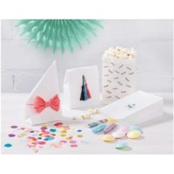Popieriniai maišeliai baltos spalvos, 17,5 x 10 x 5,5 cm., 15 vnt. FOLIA