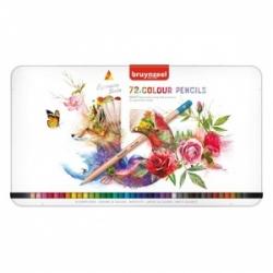 Spalvotų pieštukų rinkinys EXPRESSION Bruynzeel, 72 spalvų., metalinėje dėžutėje