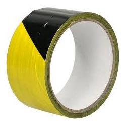 Signalinė lipni juosta 48mmx33m, geltona/juoda