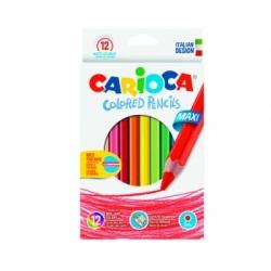 Spalvoti pieštukai storu korpusu JUMBO, 12 spalvų
