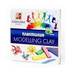 "Plastilinas  ""Klasika"" LUČ, 12 spalvų"