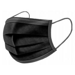 Vienkartinė apsauginė veido kaukė juoda, 4 sluoksnių, Vietnamas 10 vnt.