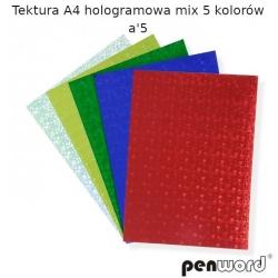 Kartonas A4 5l. metalizuotas/holografinis PENWORD