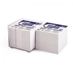 Užrašų lapeliai balti dėžutėje 90x90mm 800vnt