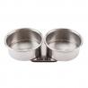 Indeliai metaliniai dvigubi, d:4cm, h:2cm.