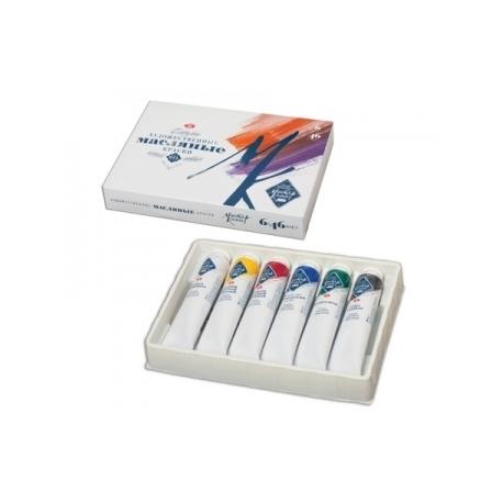 """Aliejinių dažų rinkinys """"Master Klass"""", 6 spalvų po 46 ml."""