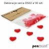 Dekoracija rankdarbiams Širdelės (plastikas) 30vnt. 14x10mm