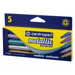 "Flomasteriai ""Metallic""8690 Centropen, 5 spalvų"