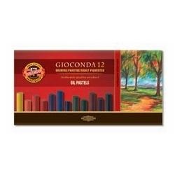 Pastelė aliejinė GIOCONDA Koh-I-Noor, 12 spalvų