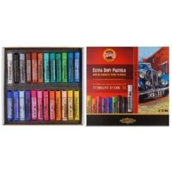 Spalvota EKSTRA sausa pastelė Koh-I-Noor, 24 spalvų