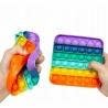 Antistresinis silikoninis žaislas (SP. KVADRATAS) POP IT 12,5x12,5 cm